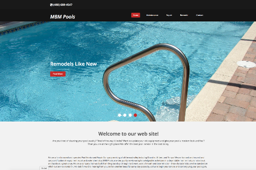 Pool web site development